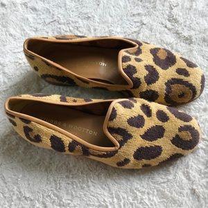 Stubbs & Wootton Needlepoint Cheetah Loafers